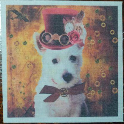 steampunk hond oranje
