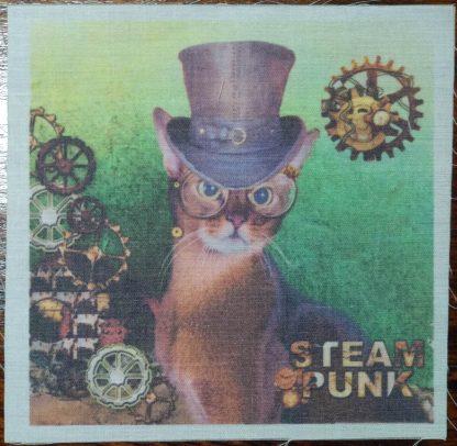 steampunk kat groen